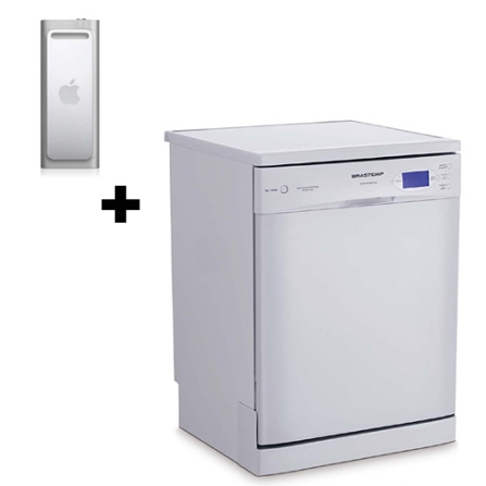 Lava Louça 12 Serviços / 7 Programas de Lavagem / Branca - Convenience Brastemp - BLE12A + iPod shuffle com 2GB / VoiceO, 110V, 220V, LB