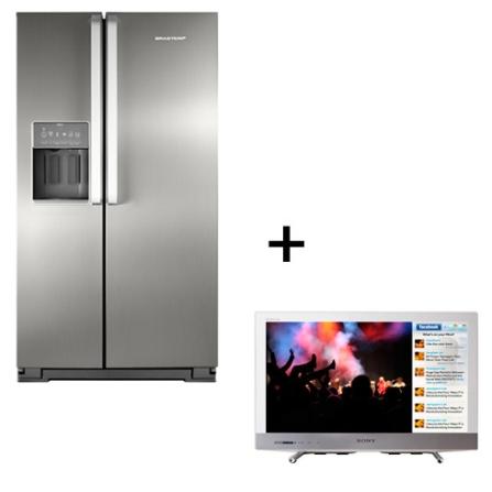 Refrigerador 2 Portas Electrolux + TV LED Sony, 110V