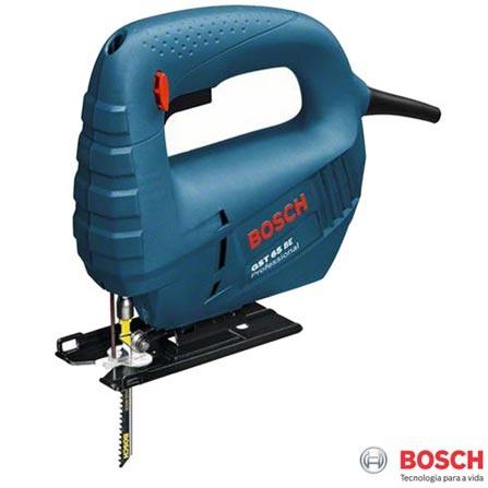 Serra Tico-Tico 400W Azul Bosch - GST 65 BE, 110V, 220V