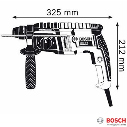 Martelete Perfurador Rompedor Bosch 650W - GBH 2-20 D, 110V