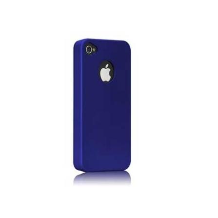 Capa Plástico Flexível Azul para Iphone 4 - Be ez - CM011666, Azul, 06 meses