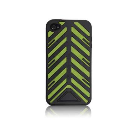Capa Emborrachada Torque Preto / Verde para iPhone 4 - Case Mate - CM011808, Preto e Verde, 06 meses