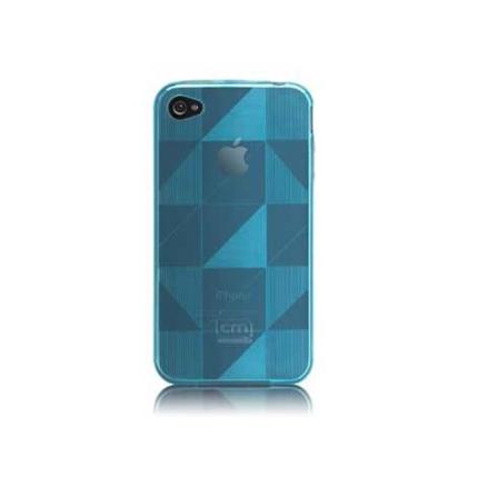 Capa Plástica Flexível  Azul para iPhone 4° Geração - Case Mate - CM011836