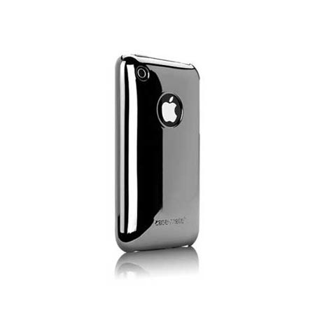 Capa Rígida Chrome para iPhone 3G / 3GS Cinza - Case Mate - IPH3GMSP, Cinza, 06 meses