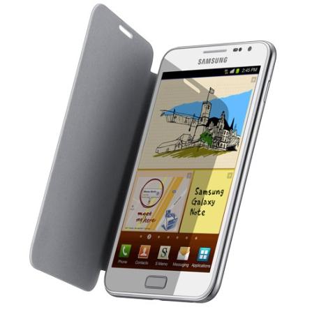 Capa Flip Samsung EFC1E1CWEC Branca para Galaxy Note