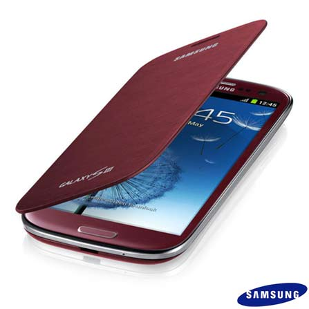 Capa Flip Samsung para Galaxy S III Vermelha, Vermelho