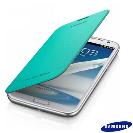 Capa Flip Samsung para Galaxy Note II Verde, Verde