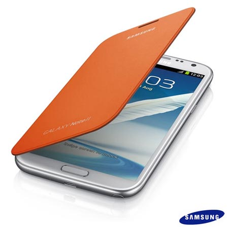 Capa Flip Samsung para Galaxy Note II Laranja - EFC1J9FOEG