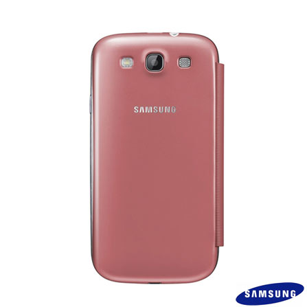 Capa Flip Cover Samsung Rosa para Galaxy SIII, Pink