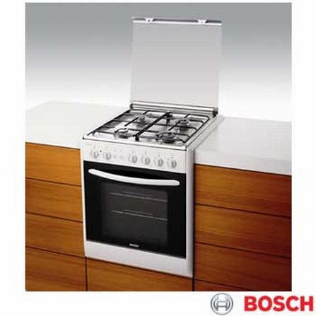 Fogão de Embutir 4 Bocas Branco Time Control Bosch - HEC66J48EDP3, Embutir, a Gás, 04 Bocas, Automático, 01, Branco, 01 ano