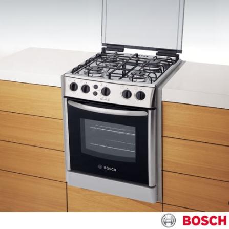 Fogão de Embutir 4 Bocas Inox Style Bosch, LB, Inox, 04 Bocas, 01, Embutir, a Gás, Automático