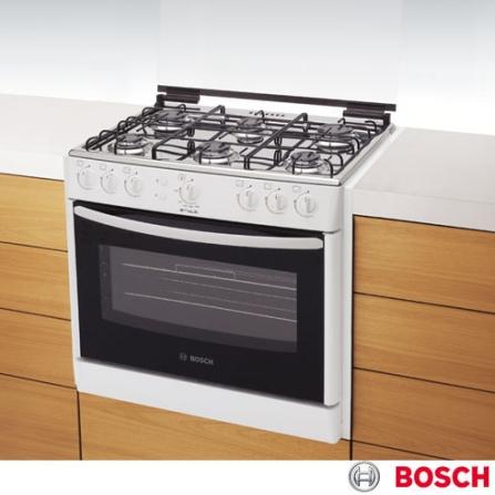 Fogão de Embutir 6 Bocas Branco Style Bosch - HEK13J33ED, Embutir, 06 Bocas, Automático, 01, Branco, 01 ano
