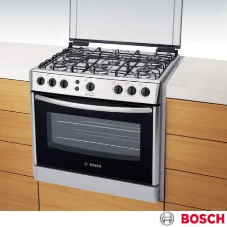 Fogão de Embutir 6 Bocas Inox Style Bosch - HEK13X33ED, LB, Embutir, 06 Bocas, Automático, 01, Inox, 01 ano