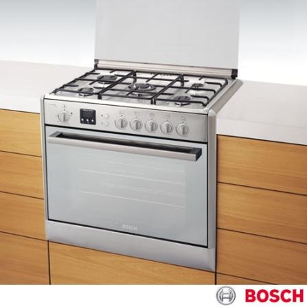 Fogão de Embutir 5 Bocas Express Grill Inox Bosch, LB, Embutir, a Gás, 05 Bocas, Automático, 01, Sim, Inox