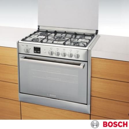 Fogão de Embutir 5 Bocas Inox Bosch HEK66X51ED, LB, Embutir, a Gás, 05 Bocas, Automático, 01, Inox