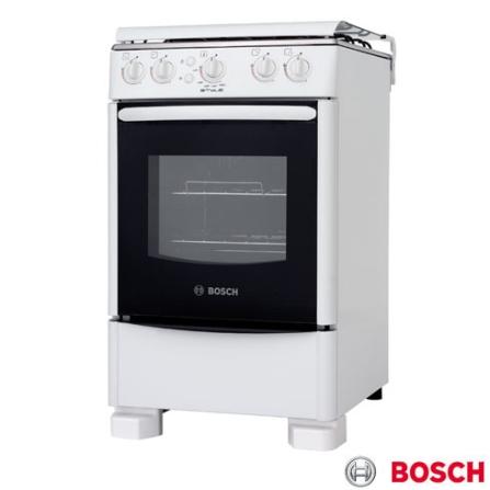 Fogão de Piso 4 Bocas Branco Style I Bosch - HSF13K33ED, LB, Piso, a Gás, 04 Bocas, Automático, 01, Branco