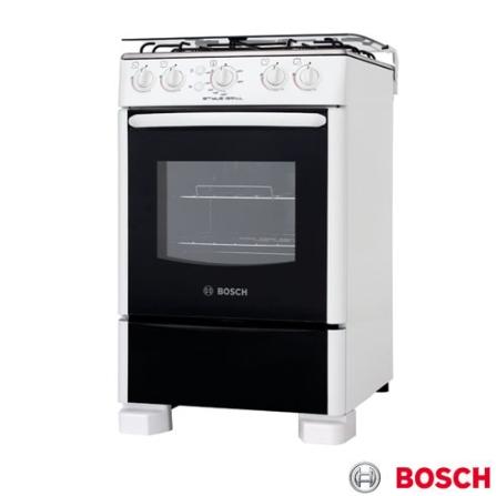 Fogão de Piso 4 Bocas Branco Style Grill Bosch, LB, Piso, a Gás, 04 Bocas, Automático, 01, Sim, Branco