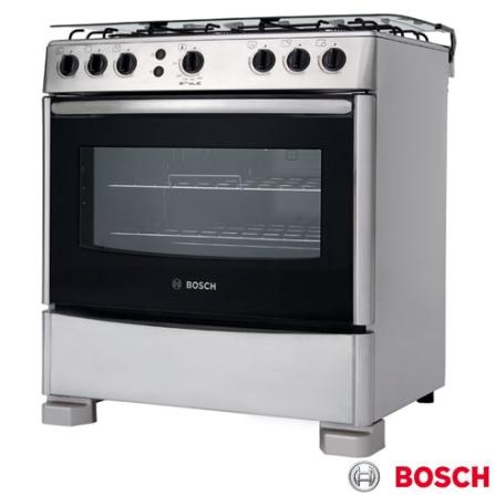 Fogão de Piso 6 Bocas Inox Style II Bosch - HSK13I33ED, LB, Piso, 06 Bocas, Automático, 01, Inox, 01 ano