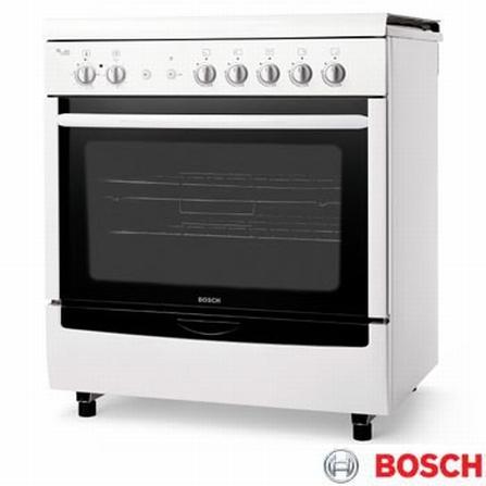 Fogão de Piso 5 Bocas Branco Time Control Bosch - HSK66K48EDP3, Grill, Piso, 05 Bocas, 01, Automático, Sim, 109 L, Branco, 01 ano