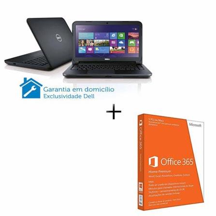 Notebook Dell i14-2640 com Processador Intel Core i5-3337U, 6GB de Memória, HD de 1TB, Tela de 14