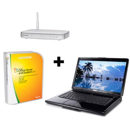 Notebook Inspiron 15 Vermelho com Intel® Core2 Duo T6500 / 4GB / HD 500GB / DVD±RW / Tela 15.6