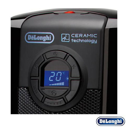 Aquecedor Cerâmico com Timer Digital Delonghi, 110V, 220V, Cerâmico