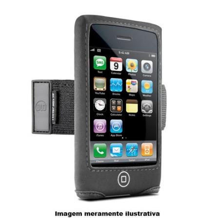 Faixa de Braço Preta para iPhone 3°Geração - DLO - DLZ4000117, Preto