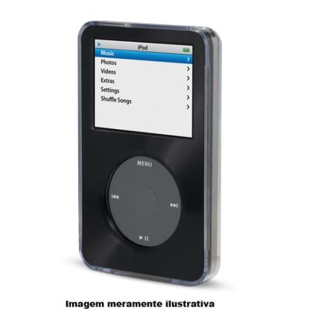 Capa Preta com Detalhes em Metal Escovado para iPod Classic 5G - Belkin - F8Z115TTBLK
