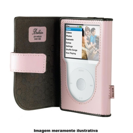 Capa de Couro Rosa para iPod Classic - Belkin - F8Z207RK