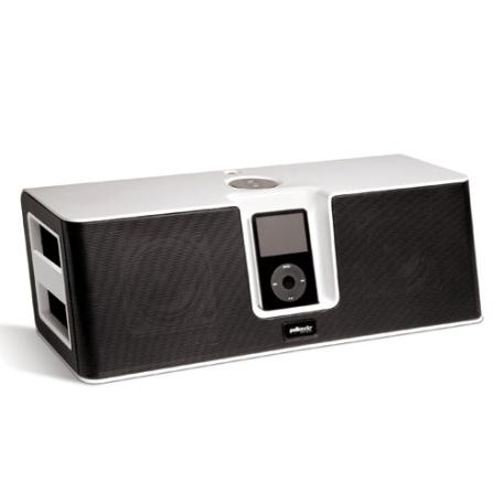 Dock para iPod Midock Studio Branco com Tela Preta / Controle Remoto / Conexão USB / Entrada Auxiliar / Alça em Ambos os