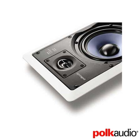 Caixa Acústica Polk Audio com Potência de 20 W a 100 W - RC55I, 110V, Branco, 12 meses