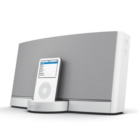 Dock para iPod SoundDock Portátil Branco com Controle Remoto / Bateria Recarregável / Entrada Auxiliar - Bose - SOUNDDOCKP_W