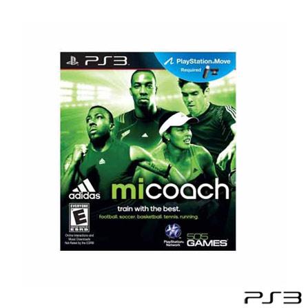 Jogo miCoach by Adidas para PlayStation 3, PlayStation 3, Esportes, Blu-ray, Livre, Não especificado, Não especificado, 03 meses