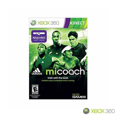 Jogo miCoach by Adidas para XBOX 360, Xbox 360, Esportes, DVD, Livre, Não especificado, Não especificado, 03 meses