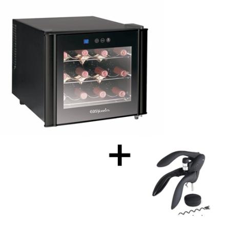 Adega de Vinhos 12 Garrafas Easy Cooler + Saca Rol, 110V