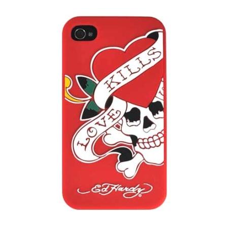 Capa Vermelha para iPhone 4 - Ed Hardy - GESIP41003, Vermelho, 06 meses