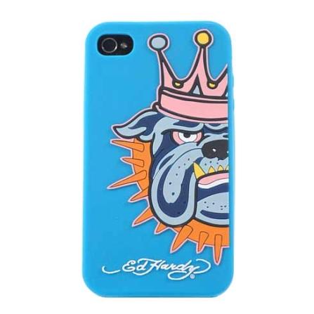 Capa Azul para iPhone 4 - Ed Hardy - GESIP41004