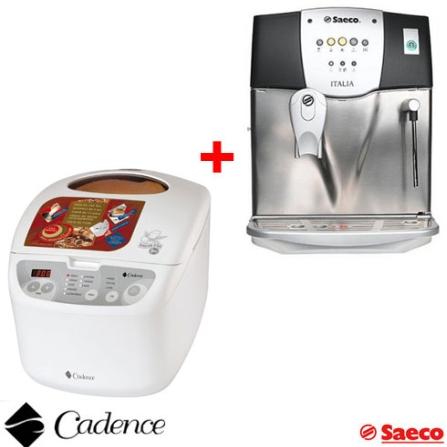 Cafeteira Expresso Itália Saeco + Panificadora Doméstica Automática - Nosso Pão - Cadence - CJITALCFD530, 110V