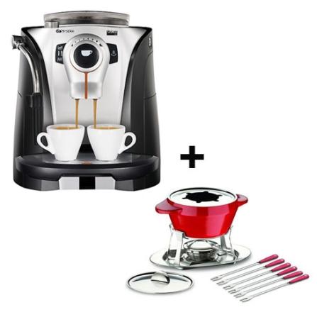 Cafeteira Espresso Automática Odea Go - Saeco - ODEAGO + Jogo para Fondue em Cerâmica 12 Peças - Tramontina Design Colle