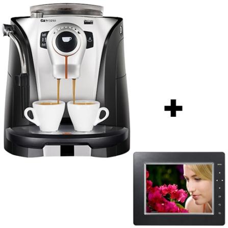 Cafeteira Espresso Automática Odea Go Saeco + Porta Retrato Digital com Tela LCD de 8