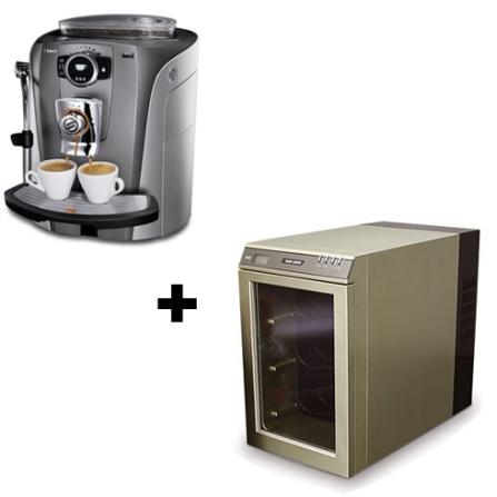 (ver separados - Carol 05/02/09) Cafeteira Espresso Auto Talea Giro Saeco + Mini Adega de Vinho para 6 Garrafas / Champagne e Pr