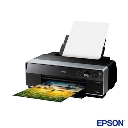 Impressora Epson Stylus Photo R3000 Jato de Tinta 8 Cores com Wireless-N e Porta USB, Colorida, Jato de Tinta