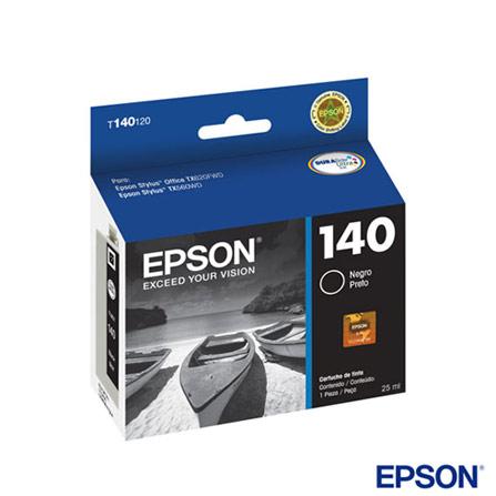 Cartucho de Tinta Epson T140120BR Preto Durabrite Ultra, Compatível com Stylus T42WD, TX560WD, TX620FWD, Cartuchos