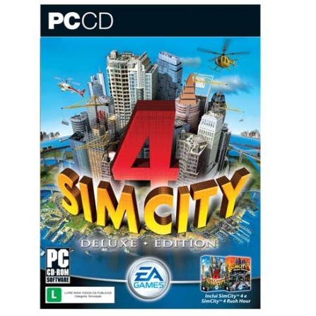 Jogo Sim City 4 para PC - Eletronics Arts - PCSIMCITY4