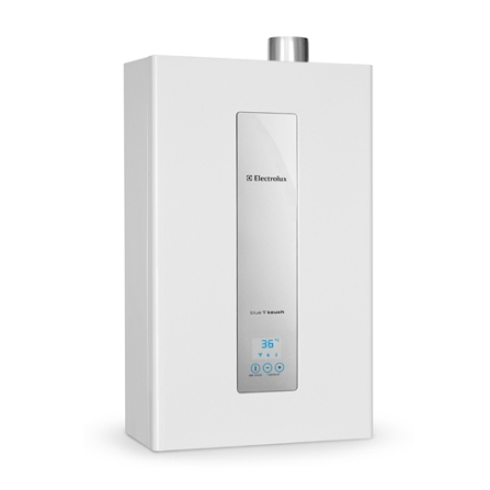 Aquecedor de Água a Gás (GN) com Capacidade de 16L e Painel Eletrônico - Electrolux - AQ16N, 16 Litros, Branco, Até 16 litros
