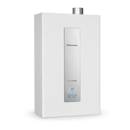 Aquecedor de Água a Gás (GN) com Capacidade de 24L e Painel Eletrônico - Electrolux - AQ24N, 24 Litros, Branco, Acima de 16 litros