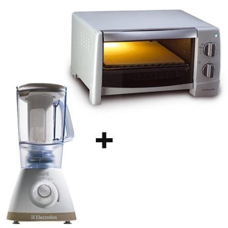 (não ativar) Mini Forno Elétrico Cuisine 9L - COT9L + Liquidificador com 8 Velocidades / 600W de Potência / Branco - Ele, 110V