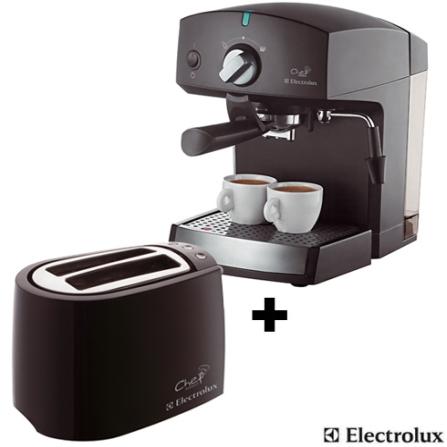 Cafeteira Chef Crema Expresso + Torradeira Chef Toast - Electrolux - CJCREMATOAST