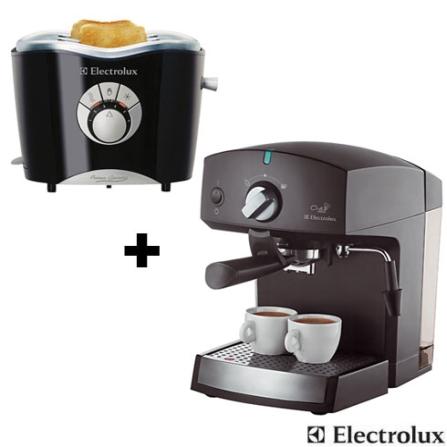 Cafeteira Chef Crema + Torradeira Electrolux, 110V