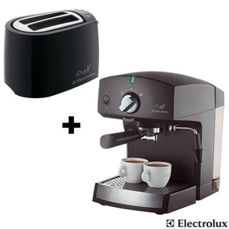 (Ver separado) Cafeteira Chef Crema Expresso Electrolux + Torradeira Chef Toast Electrolux - CJCREMTS3002, 220V